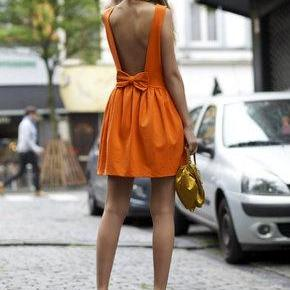Super sweet open back mini dress